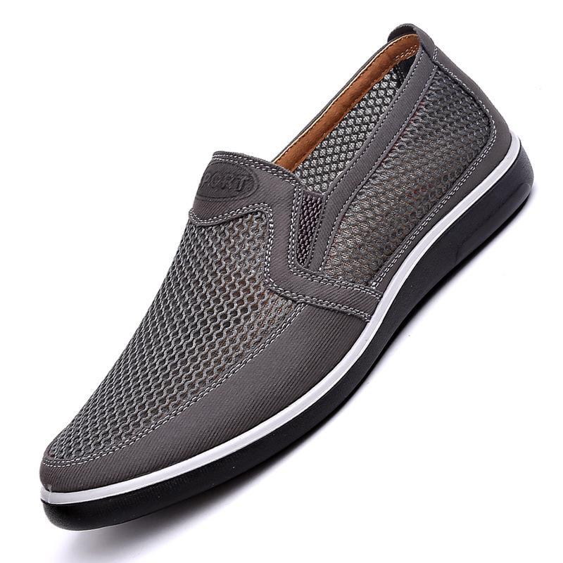 2020 hommes Souliers simples, hommes d'été de style Mesh Flats pour les hommes oisif Creepers Souliers simples haut de gamme très confortable