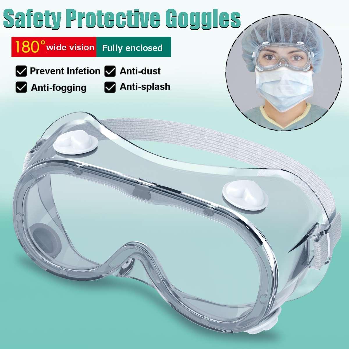 2 Type de protection Lunettes de protection Lunettes large vision indirecte à usage unique Vent Masque pour les yeux anti-buée Lunettes Splash