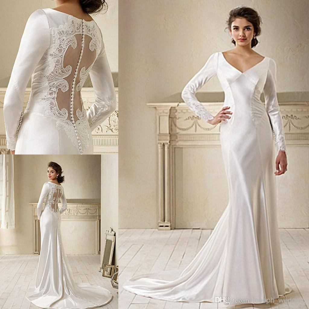 2019 Movie Star In Breaking Dawn Bella Swan Long Sleeve Lace Wedding Dress Bridal Gown Free Shipping On Sale HS222