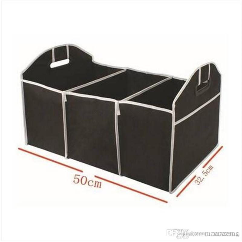 HOT Trunk Storage Cargo Container Groceries Organizer Fabric Box Pockets Foldable Folding Storage Bags Household storage collection