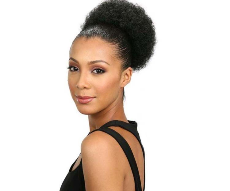 Perucas sintéticas de peruca africana bolsa de peruca europeia e americana Burst de cabelo conjunto cabeça fofa cadeira cadeira fzp170