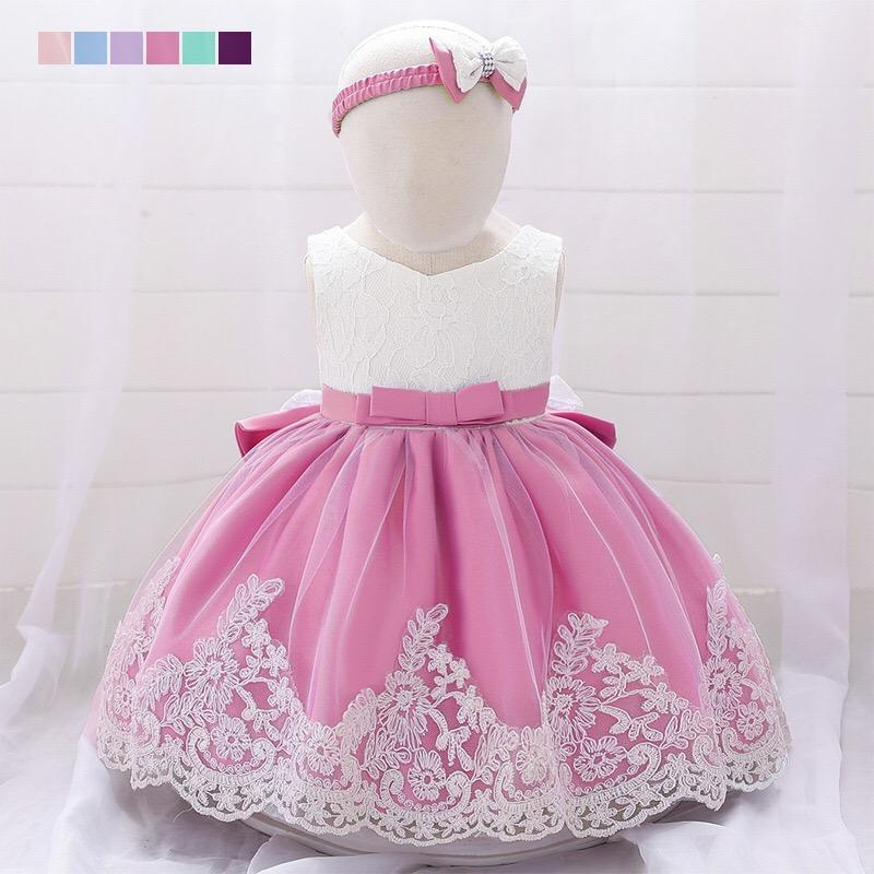 Toddler Baby Girls Princess Dress Kids Long Sleeve Bowknot Party Tutu Dresses US