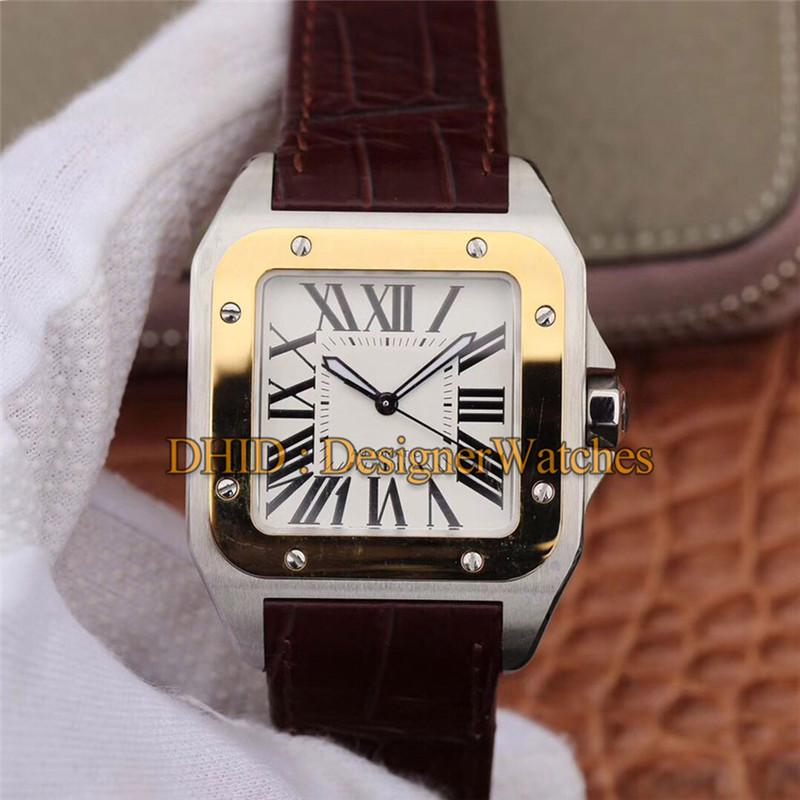 38mm Designer Watches Square Black Steel Swiss Import Quartz Movement Luxury Mens Watches Cowhide Leather Strap fashion mens watches