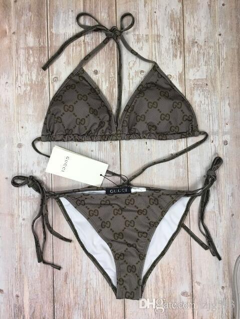 2019 BB Women's Swimming Suit Bikini Summer Sexy Swimwear Triangle sexy Bikini Summer Beach Bikini Swimsuit Underwear Bra
