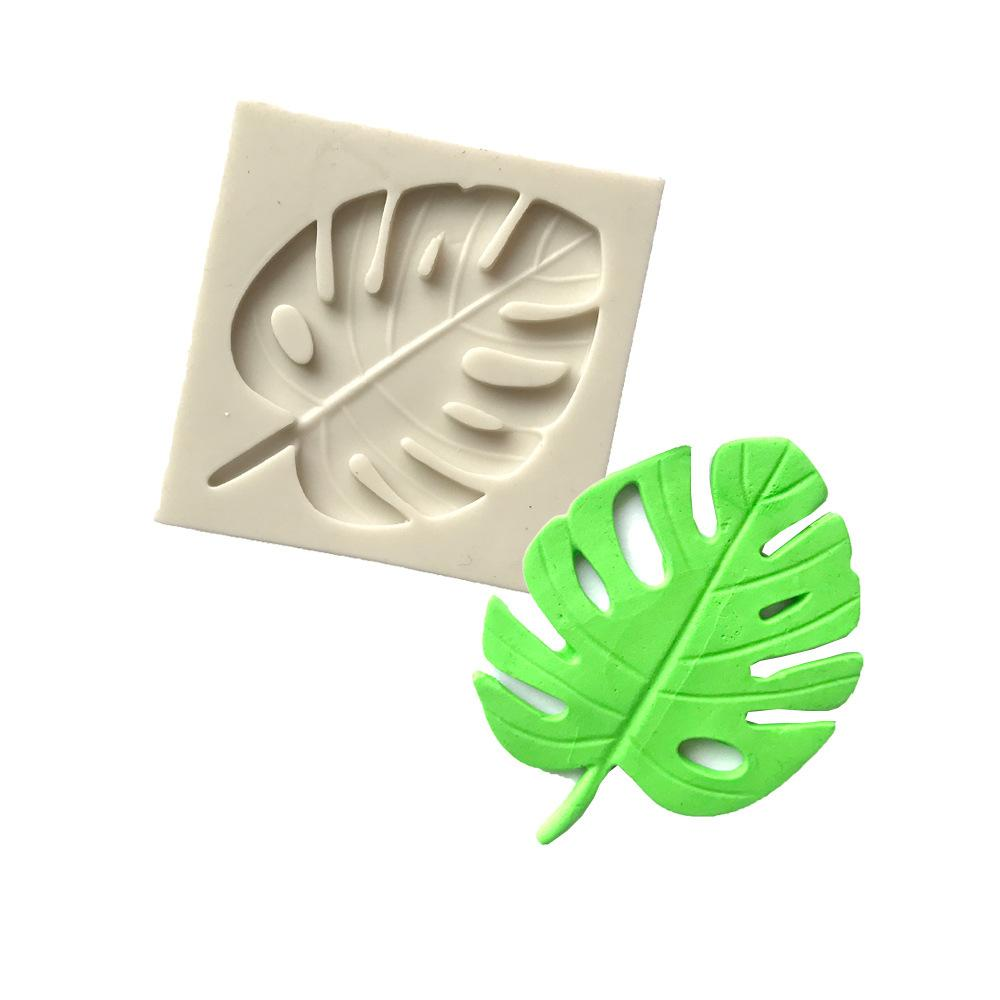 Monstera Leaf Silicone Mold Sugarcraft Molds Cake Decorating Tools resin clay Mould Fondant Chocolate moulds