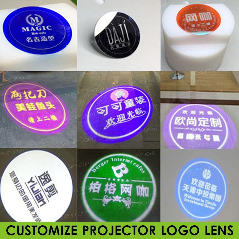 العدسة الزجاجية المخصصة لعارض الشعار 37mm-27mmm Mall Ktv Text Pattern Logo Advertising Lighting Gobo Projection
