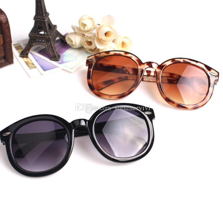أزياء الأطفال النظارات الشمسية بنين ليوبارد الحبوب الإطار uv 400 نظارات الشمس الفتيات المعادن السهم الشاطئ الظل الأطفال الدراجات الملحقات F5894