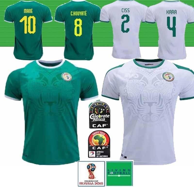 Тайский 19 20 Африка Кубок Сенегал футбол Джерси верхнего качества 2018 Кубок мира Сенегал национальной МАНЕ футбольной команды рубашка футбола Футбол рубашка