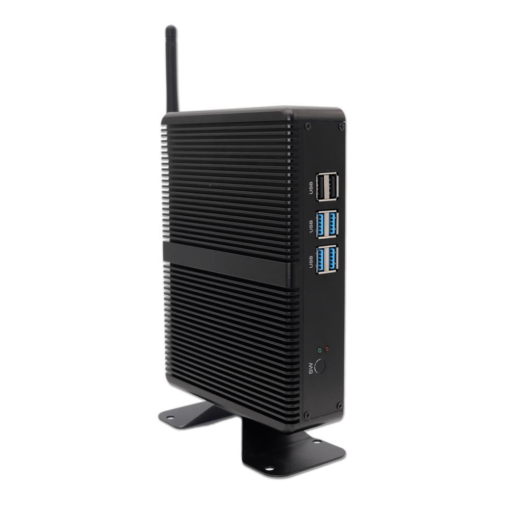 New Module Intel fanless mni pc i5-4200U SSD&HDD HD&VGA 12V mini computer Home TV Family POS computer