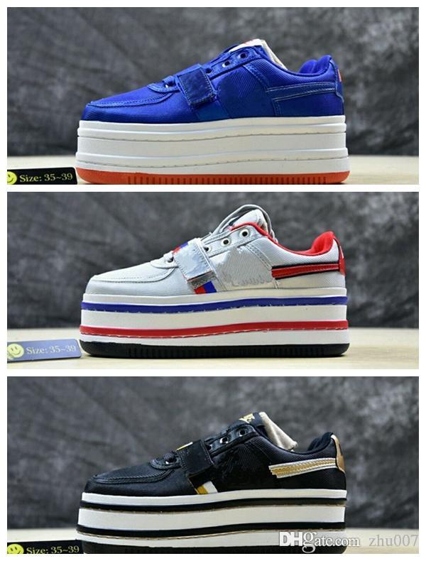 2019 Donna WMNS Vandal 2K Platform Scarpe da donna Sneakers per donna Scarpe firmate da marca Doppia pila AO2868-200 Palestra Blu Femmina Famosa 36-40