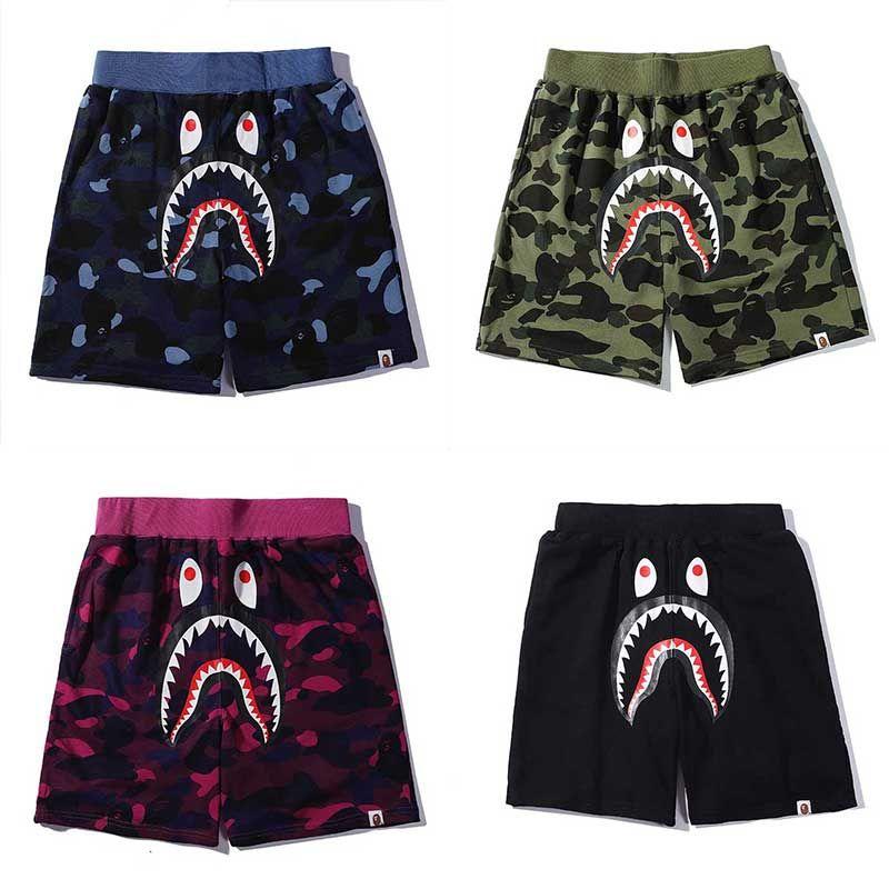 Ape Shark Shorts AApe Japan Shark Jaw Shorts Camo Herren Designer Hose Off Apes Kopf Hose Weiß Herren Shorts ein Badetier
