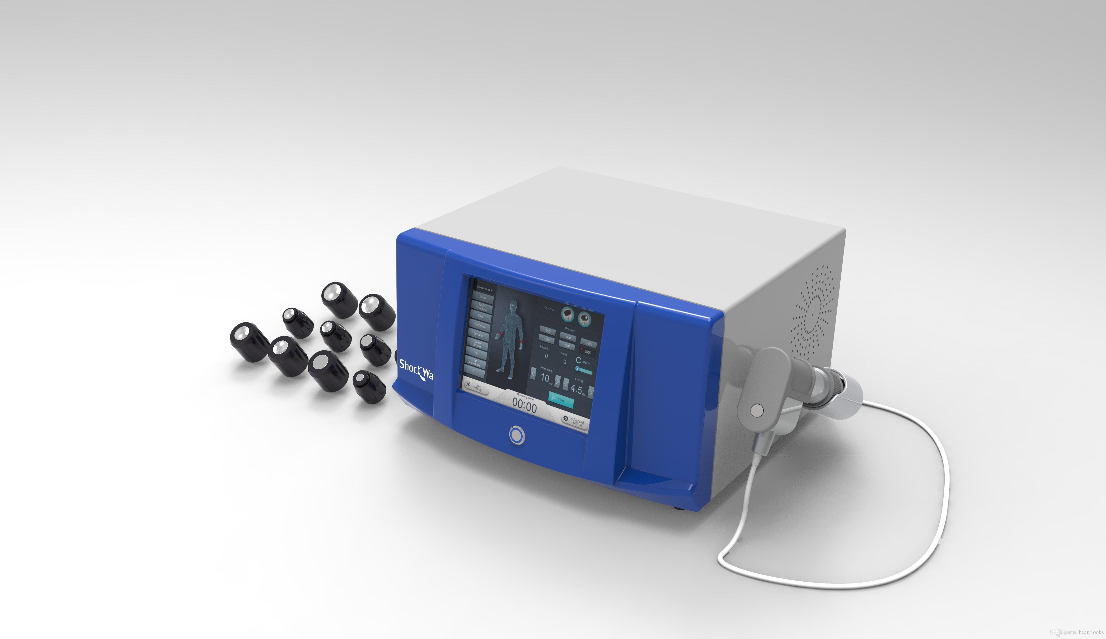 Thérapie extracorporelle par ondes de choc Thérapie d'onde de choc d'onde acoustique Soulagement de la douleur de l'arthrite extracorporelle Activation d'impulsion ED machine de traitement