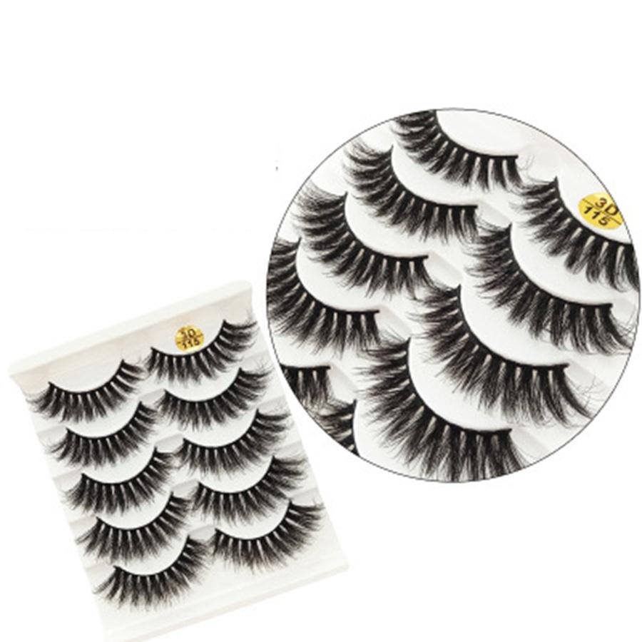3D-6D falsche Wimpern 43 Styles natürliche lange Gewirr Wimpern Extentions Make-up für Augen Big Lashs 5 Paare New Styles RRA2551