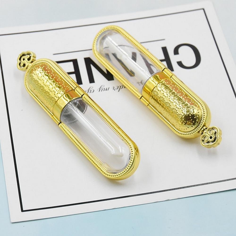 Bricolage vide 50pcs Lip Gloss Tubes Gold Crown design Rouge à lèvres Bouteille Container outil de beauté échantillon Rechargeables Lipgloss Bouteille