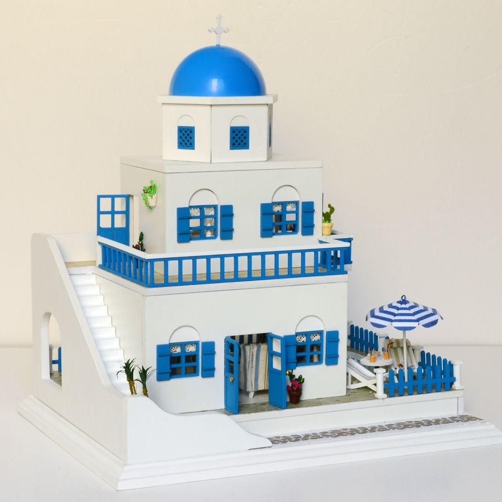 DIY Miniature Dollhouse Kit Handmade Wooden Dolls House /& Furniture Kit with 20pcs Lights