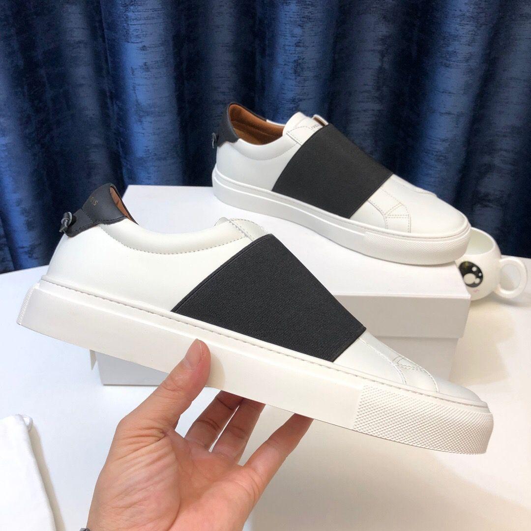 New Paris Hombres Mujeres Plataforma Trainer Comfort zapato casual zapatilla de deporte para hombre del ocio zapatos de cuero Zapatos Formadores Slip-On