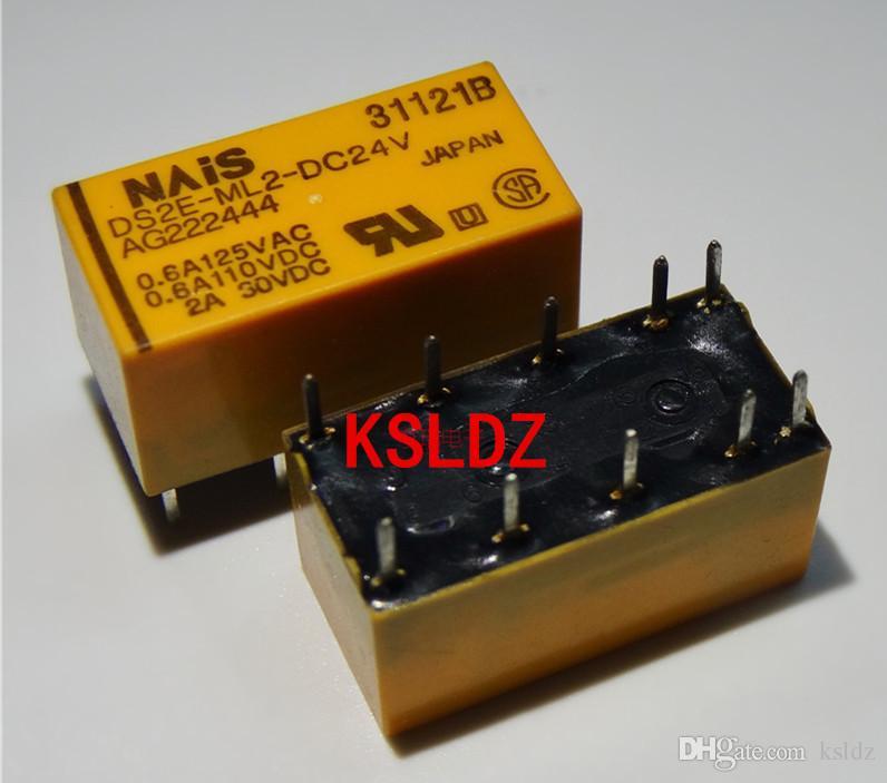 무료 배송 많은 (2 개 / 많은) 100 % 원래 새로운 DS2E-ML2-DC5V DS2E-ML2-DC12V DS2E-ML2-DC24V 10PINS 2A 5VDC 12VDC 24VDC 신호 릴레이
