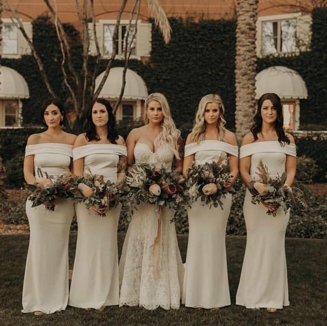 Champagne Mermaid Bridesmaids Dresses