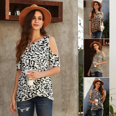 Femmes Mode Leopard T-shirt court Ladys Vogue Imprimer Top Women Casual T-shirt Lady Daily Vêtements T-shirt 2020 été nouveau style