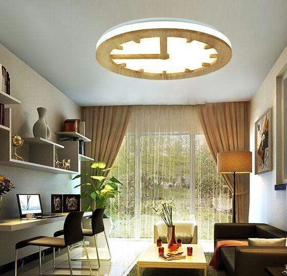 Nordic creativo semplice soffitto in legno camera da letto luci calde della lampada in legno massello stile cinese lampada sala da pranzo MYY