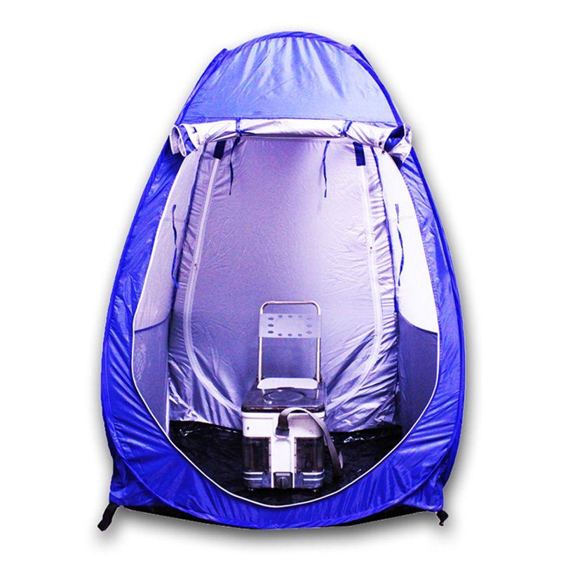 Strand-Stuhl Shelter bewegliches wasserdichtes windundurchlässiges Faltzelt Anti UV Opaque Silber Band Tent Gartenmöbel Angeln Shelter