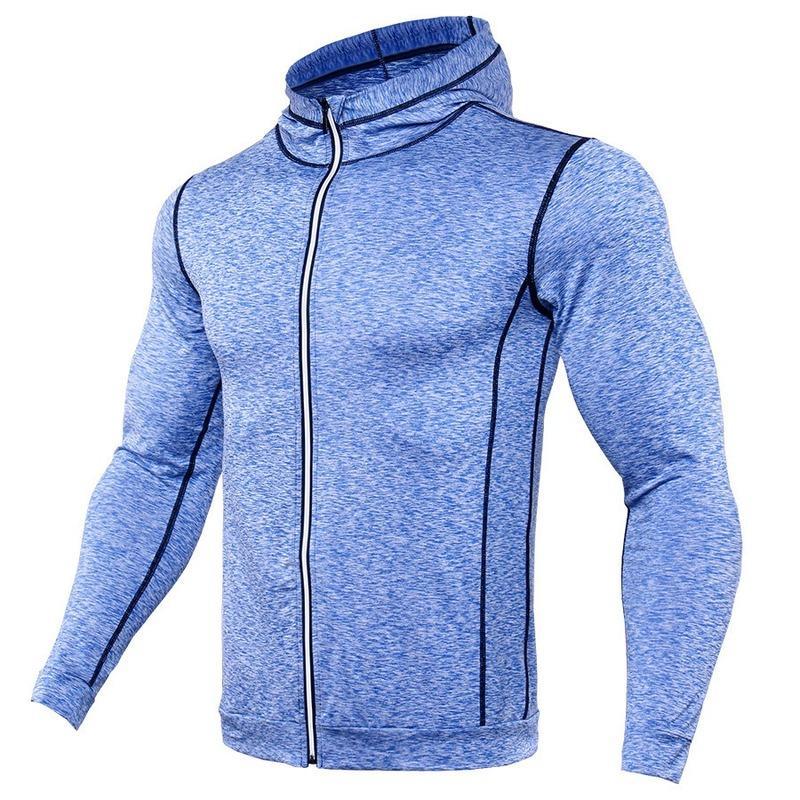 Deportes para hombre de la chaqueta con capucha de manga larga Otoño Invierno punto de los hombres de manga larga con capucha Sudaderas con capucha para hombre de Calle Outwear
