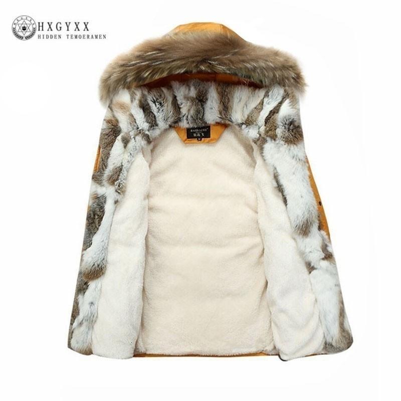 Rakun Kürk Tüy Coat Uzun Kış Ceket Kadınlar Aşağı Parka Artı boyutu 2019 Tavşan Saç Kapşonlu Ceketler T191024 Duck Beyaz Isınma