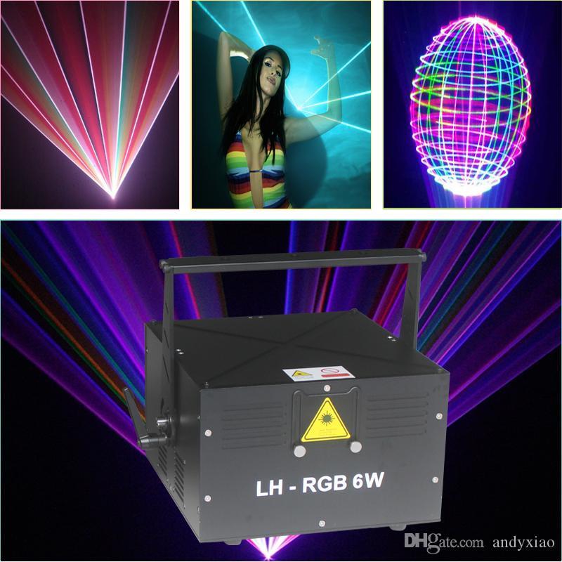 ILDA 6W RGB laser projector dj equipment sound lighting 6000MW full color lights