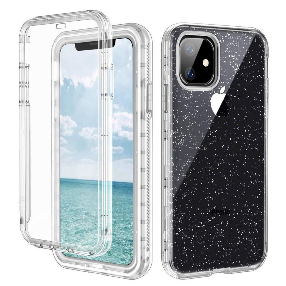 For Iphone 11 Case with Built-In Screen Protector Clear Hybrid Soft TPU Hard PC Back Cover Defender Case For Iphone 11 Pro Max