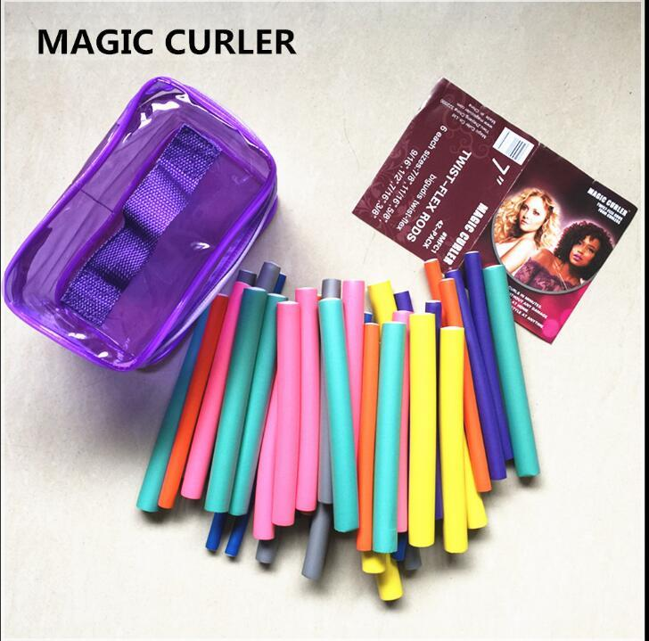 At Fashion Bendy Rollers Flexi Rods 42pcs /Set 7 Styles Diy Hair Curling Rods Magic Hair Roller Soft Flex Rods For Hair foam rollers