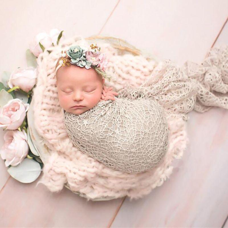 Recém-nascido Fotografia Props Enrole Acessórios Sessão Fotográfica Prop Blanket Estúdio bebê Swaddle macias estiramento Wraps para New Born Enrole