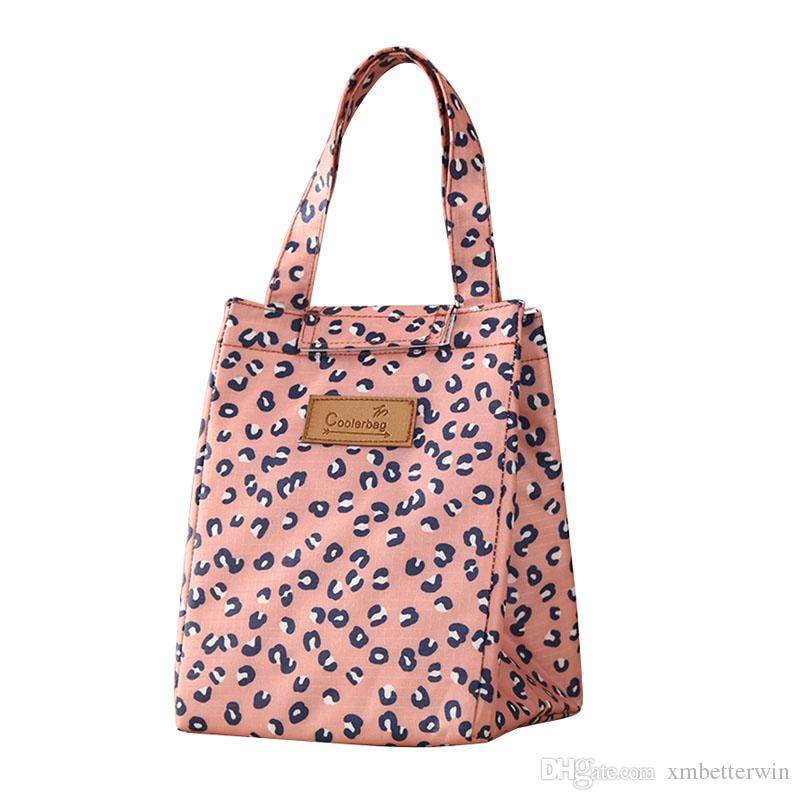 10PCS / LOT Creative Warm Keeper Lunch Bags Cartoon Cute Lunch Bags Thermal Insulation Handbag Food Picnic Cooler Box Bag Storage Tote
