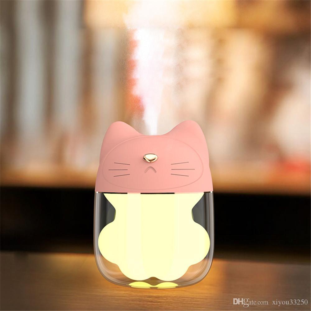 150мл Кошачий коготь чашка ультразвуковой увлажнитель воздуха красочные ночь свет создатель тумана рабочего стола 5 В постоянного тока по USB воды диффузор