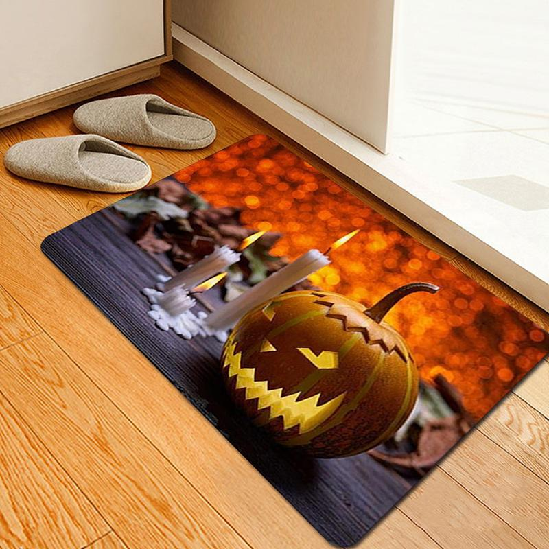 Halloween Tapis haute Scène Arrangement Props Imprimé Tapis Tapis de sol pour Doorway Cuisine Salle LG66