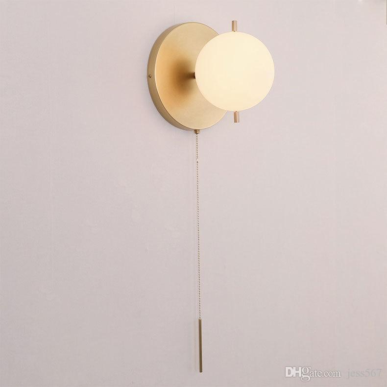 Duvar lambası başlık lambası yatak odası sözleşmeli çağdaş Avrupa tipi Amerikan oturma odası balkon merdiven koridor duvar lambası