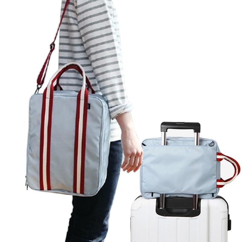 Hombres Pequeño bolsas de viaje plegable bolsa de viaje de fin de semana Maleta hombres Embalaje Cubos de asas del equipaje Organizador del hombro bolsa de intercalación