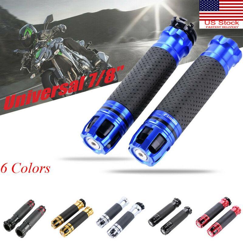 6 colores 7/8 '' 22mm motocicleta del acelerador CNC aleación de aluminio de la mano del manillar giratorio Grips