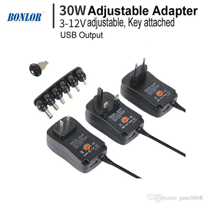 4.5V 9V 6V 7.5V Adaptateur Universel dalimentation 30W AC//DC 3V 12V 1.5A r/églable
