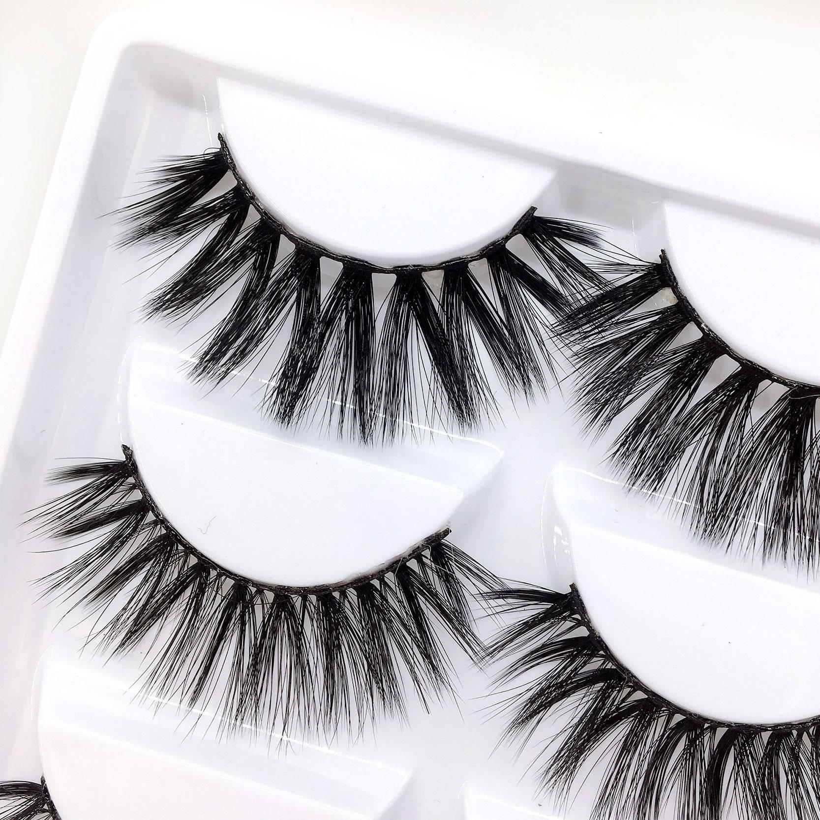 New mix 6 Style Multipack False Eyelash 3D Soft Mink Eyelashes Natural Eye Makeup Faux Eye Lashes DHL Mix C