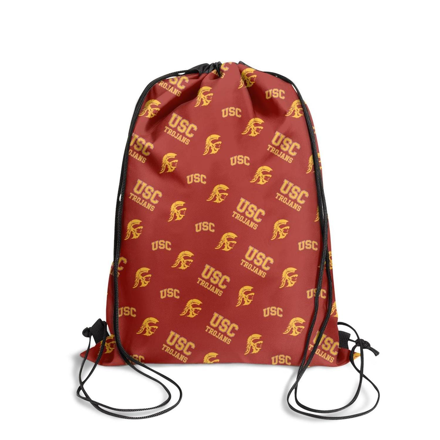 Usc trojans football basketball logoFashion sports belt backpack, design pop character durable and convenient string package, suitable fo
