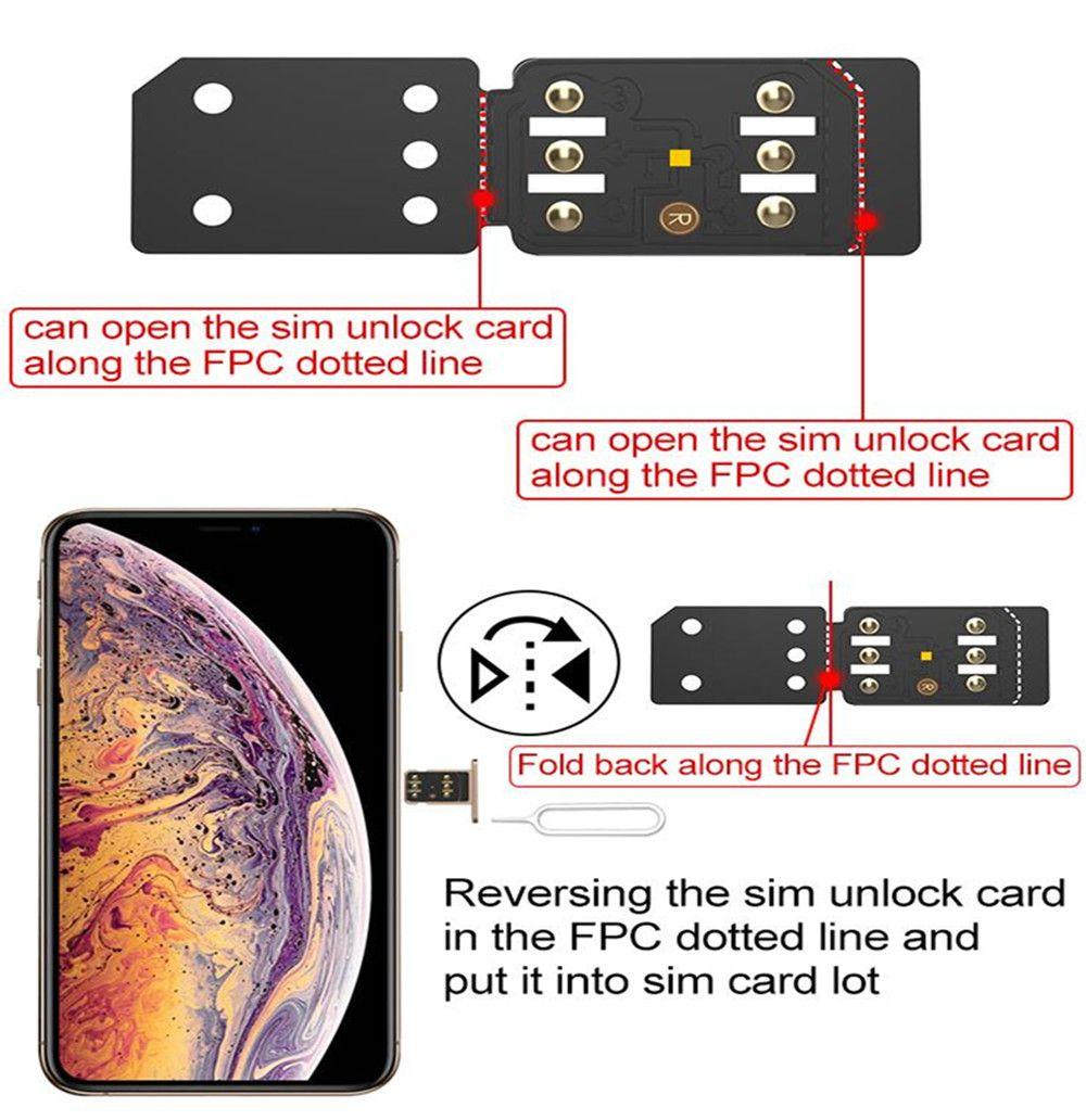 Original RSIM14 Unlock SIM R-SIM 14 FOR IPHONE 6 7 8 PLUS X XR XS XSMAX RSIM Card Tool