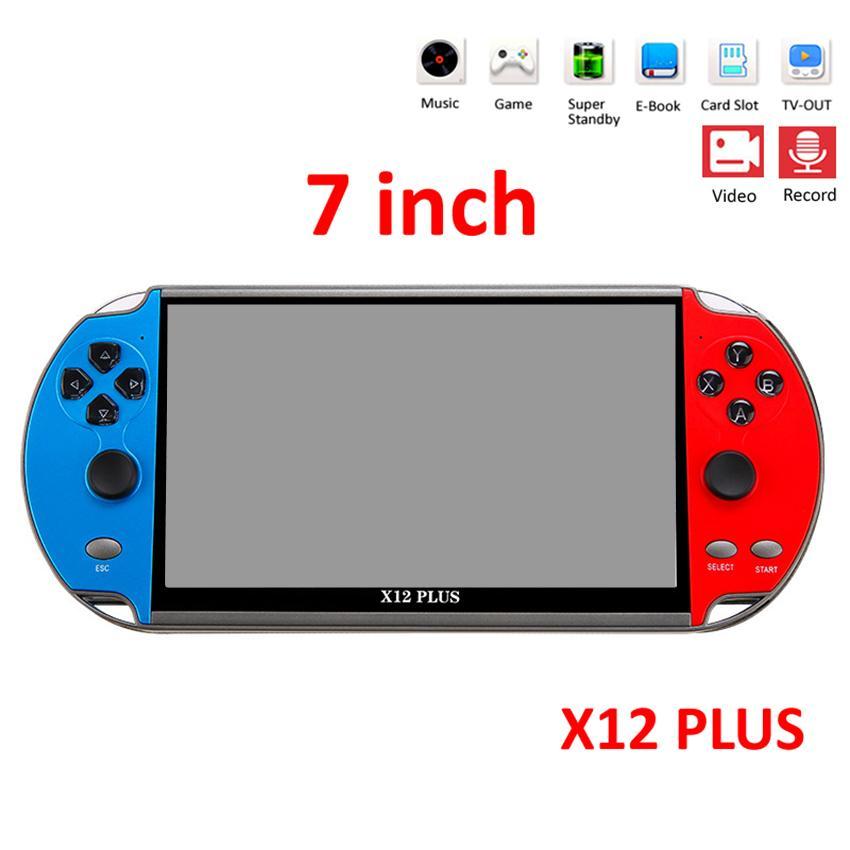 GBA SFC MD 아케이드 레트로 게임에 대한 X12 PLUS 비디오 게임 7 인치의 LCD 더블 로커 휴대용 핸드 헬드 레트로 게임 콘솔 비디오 MP5 플레이어