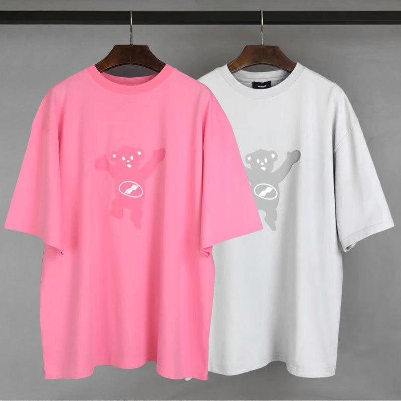 2020 yazında yeni Japon ve Kore gelgit marka WELLDONEN kısa kollu tişört WE11DONE OS gevşek gündelik kısa kollu erkek tasarımcı damla T-