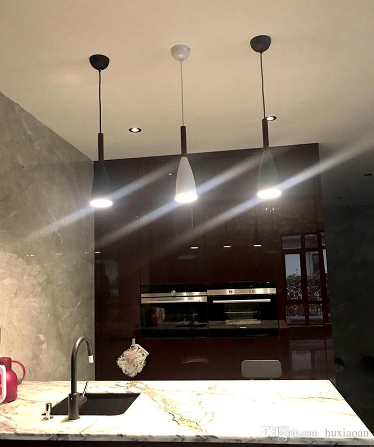 Minimalismo Nórdico DroTlight E27 Luzes de Pingente de Madeira De Alumínio, Restaurante Home Decoração Lâmpada De Iluminação e Bar Showcase Spot Light