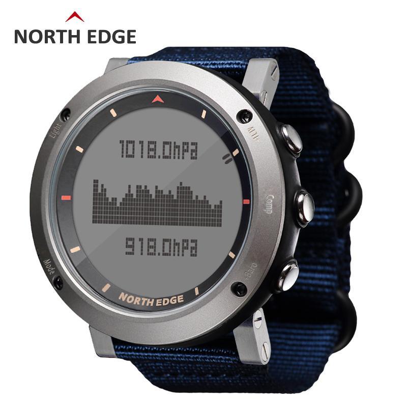 North Edge Men's Sport Digital Watch Ore Running Nuoto Orologi sportivi Altimetro Barometro Bussola Termometro Meteo Uomo Y19052103