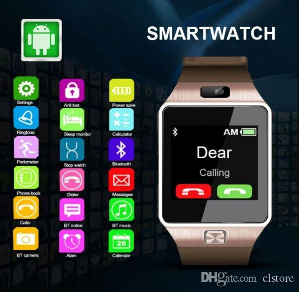 DZ09 스마트 워치 안드로이드 삼성 스마트 watchs는 슬립 상태 스마트 시계 PK 시리즈 4 ID115 GT08 U8 A1을 기록 할 수 지능형 전화 시계를 SIM