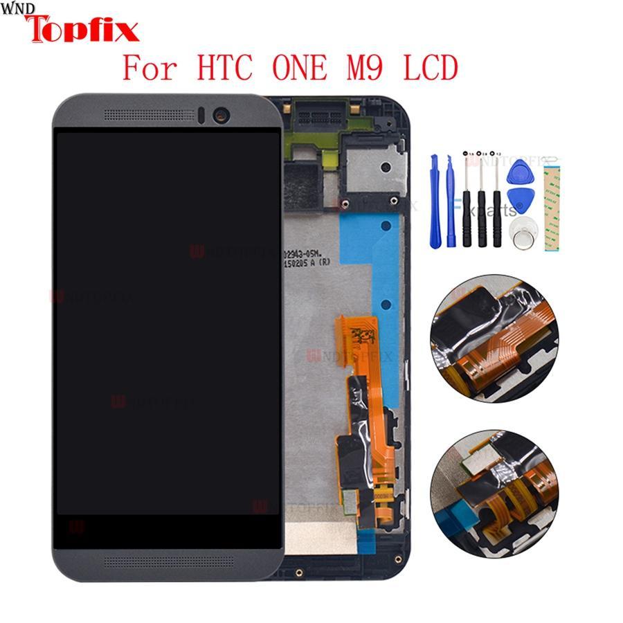 """5.0 """"pouces 100% testé pour HTC One M9 Assemblée de numériseur d'écran tactile avec cadre de rechange pour HTC M9 One Hima"""