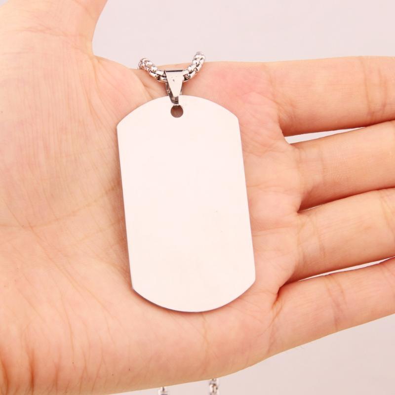 Joyería libre de la caja de Eslabones de 24 pulgadas de Tag deportivo de acero inoxidable de plata titanio perro de la vendimia del collar de los hombres unisex * 3mm