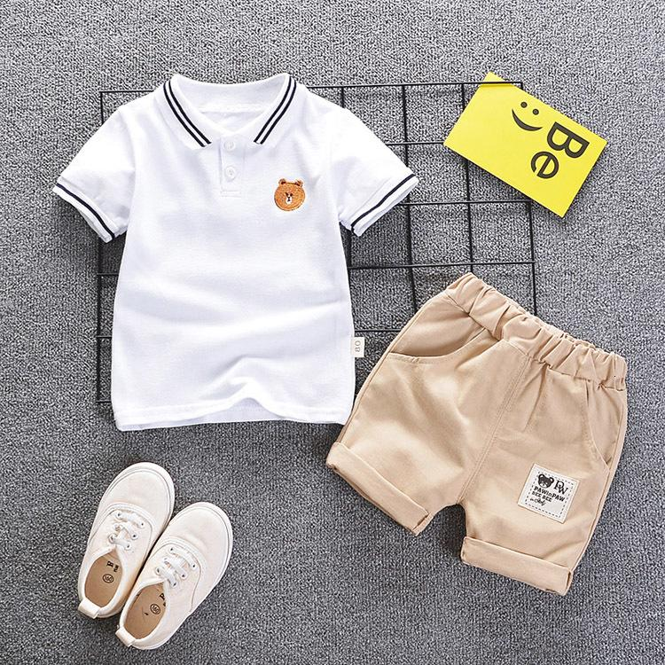 sets clothing Boys kids summer casual cotton t-shirt+short pants 2pce tracksuits for baby boys children sports suits clothes
