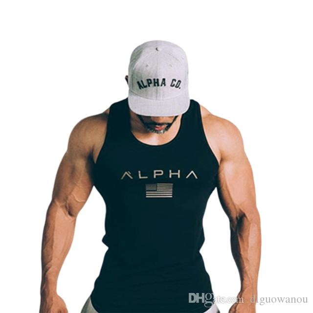 T shirt Men Running Vest Cotton Tank Top Man Gym Fitness Bodybuilding Sleeveless shirt Male Crossfit Training Workout Undershirt Apparel